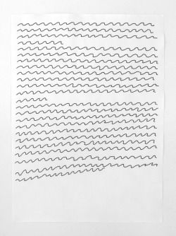"lifeinthecloud:  ""Nick Austin, Concrete Poem Draft, 2011, ink and water on paper, 300 x 210mm  """