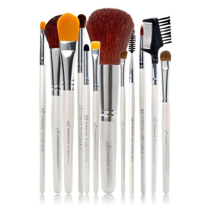 Set de 12 pinceaux professionnels ELF : Maquillage à petit prix