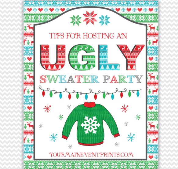 Tacky Sweater Christmas Party Ideas Part - 28: Tips And Ideas For Hosting An Ugly Sweater Christmas Party | Invitations,  Decorations And More