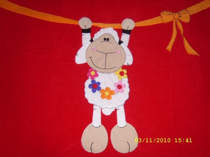 'kuzu' bebek battaniyesi