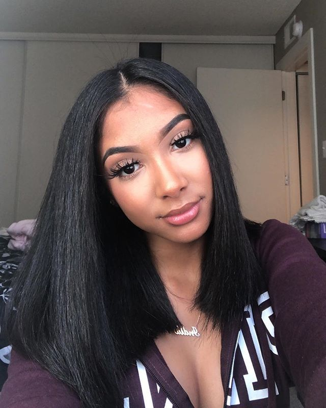 Forgot To Post These New Site Straight Hairstyles Straight Hair Waves Natural Hair Styles