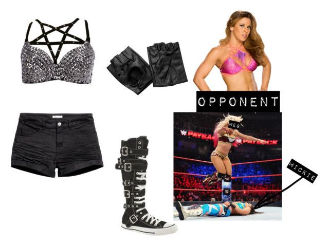"""""""Meg vs Mickie James"""" by shooting-starchild ❤ liked on Polyvore featuring Converse, H&M and WWE"""