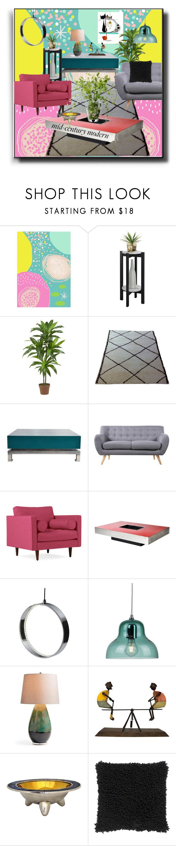"""""""Modern Home"""" by kelly-floramoon-legg ❤ liked on Polyvore featuring interior, interiors, interior design, home, home decor, interior decorating, Convenience Concepts, Nearly Natural, Maison Jansen and Madison"""
