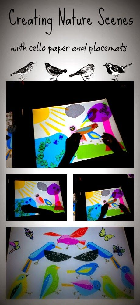 CAUTION! Twins at play!: Creating Nature Scenes on the light table