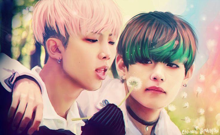 BTS Rap Monster & V Fanart