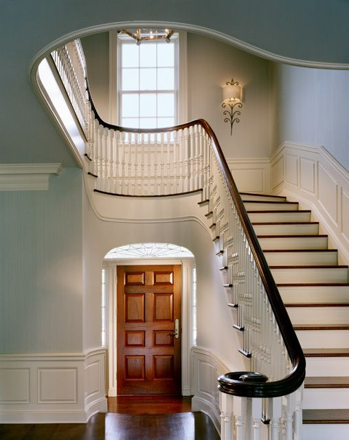 Foyer And Entryways Uk : Tour a graceful colonial revival home with classic new