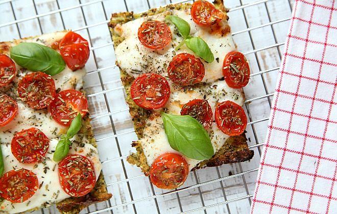 Broccolibrood met tomaatjes