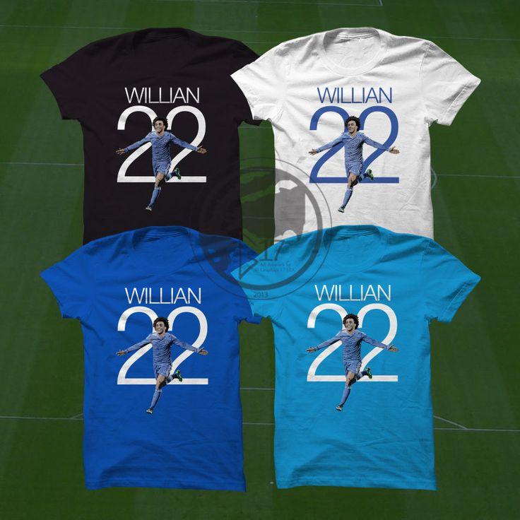 Willian T-Shirt - Chelsea FC Soccer Player  #chelsea #cfc #bpl #soccer #wallart #decor #canvas #art #poster #graphicdesign #soccerart #football #futbol #etsy #g17 #graphics17