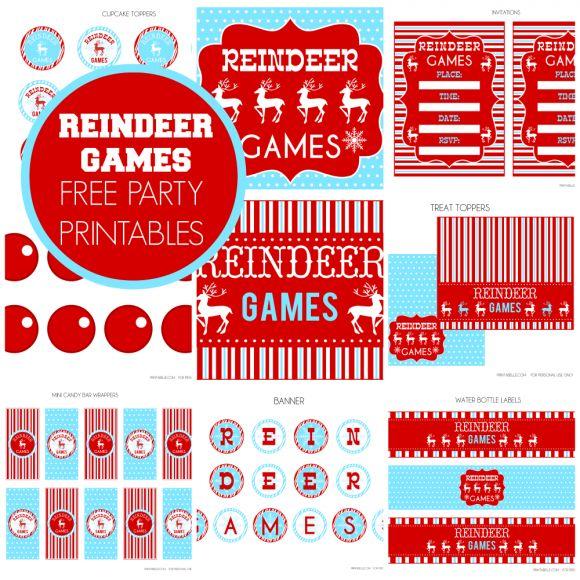 Free Reindeer Games Party Printables