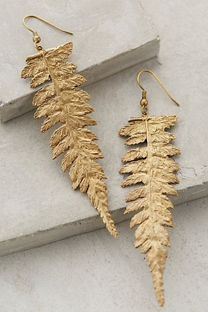 Midas Fern Earrings #anthropologie