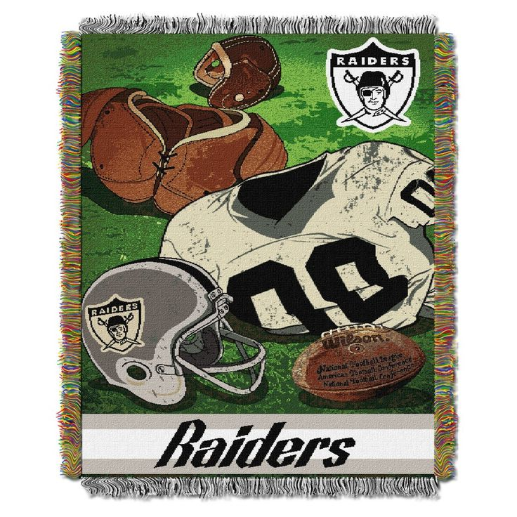 "NFL Oakland Raiders Northwest Vintage 48""x60"" Throw Blanket"