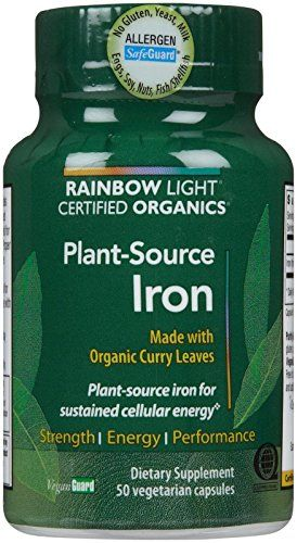 Rainbow Light Certified Organics PlantSource Iron VCaps 50 Count * To view further for this item, visit the image link.  This link participates in Amazon Service LLC Associates Program, a program designed to let participant earn advertising fees by advertising and linking to Amazon.com.