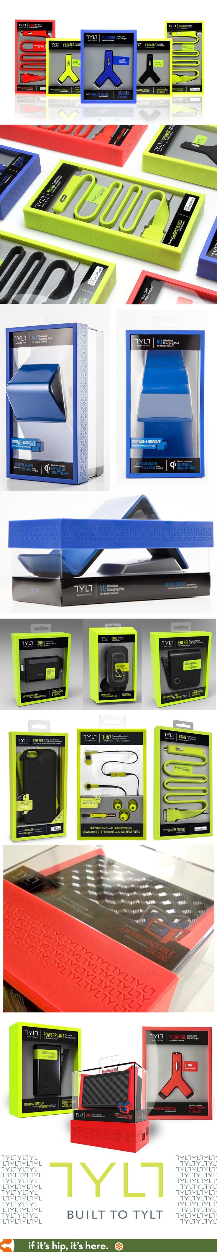 Beautifully designed packaging for all of TYLT's products by NewDealDesign.