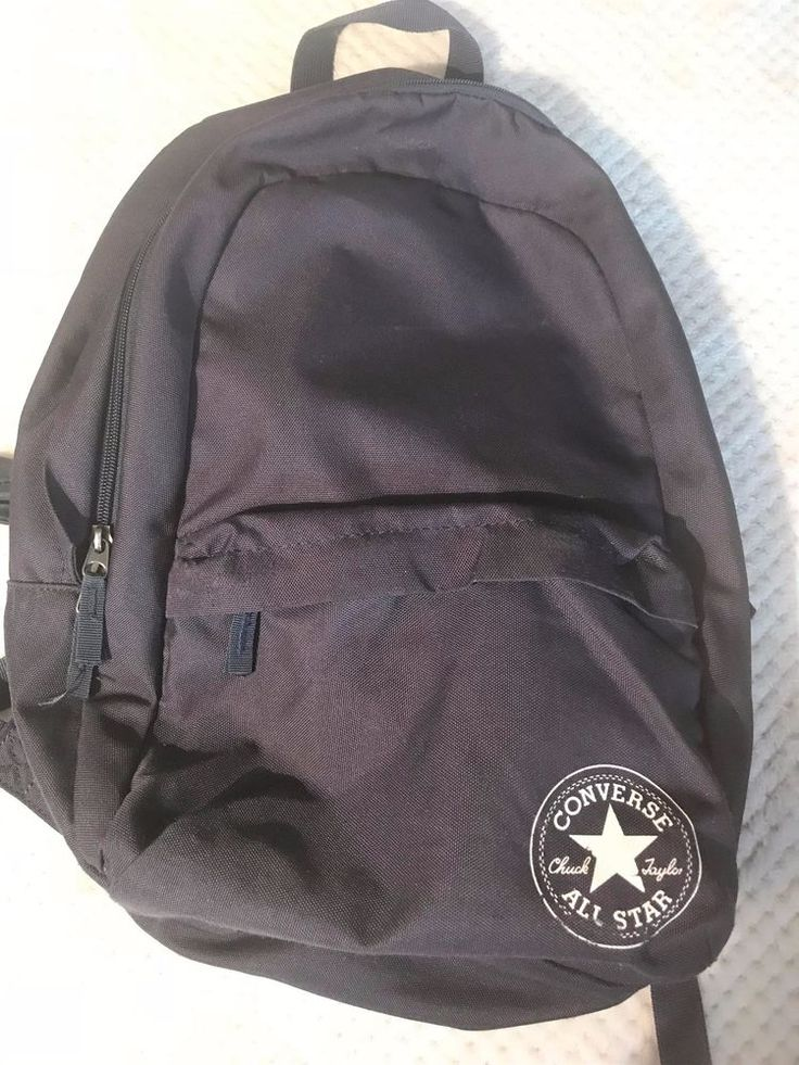 Only £7.99!!  Converse All Stars Chuck Berry Navy Blue Rucksack Very Good Condition #converse #Backpack