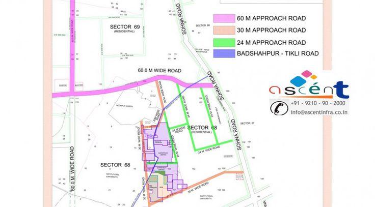 supertech azalia gurgaon location map