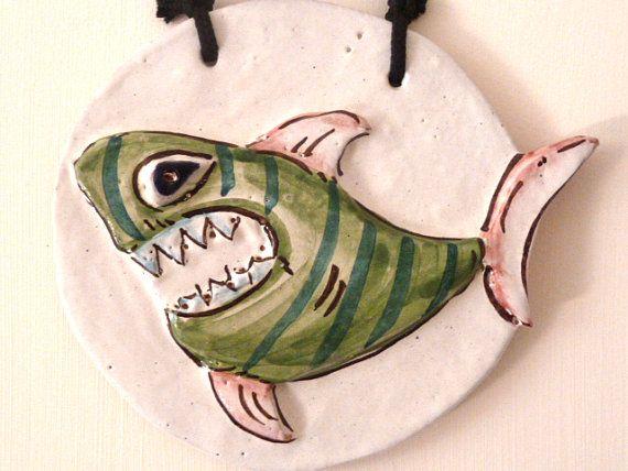 VERDE O BLU?SCEGLI TU! Tiger shark to hang on the wall. Squalo tigrato da di LabLiu, €15.00