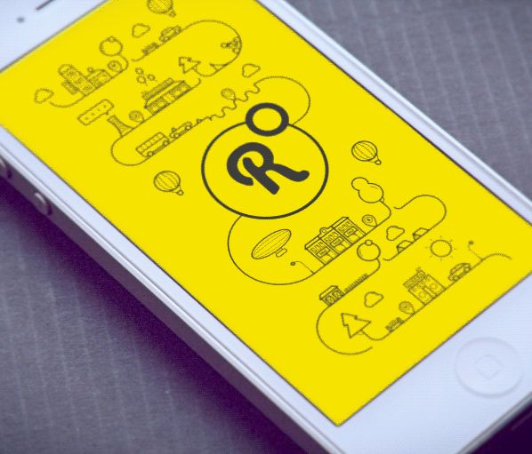 Round iPhone app on Behance