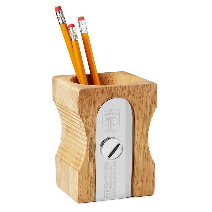 Single sharpen pencil holder beautiful desk accessories Cool pencil holder ideas