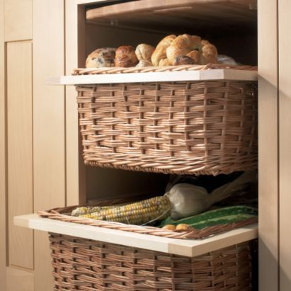 Pull-Out Baskets | Crystal Cabinets