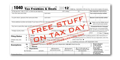 Free stuff and coupons for Tax Day!