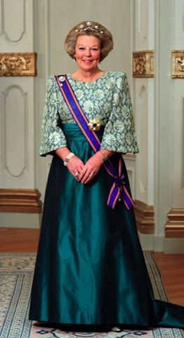 Beatrix of the Netherlands (Born 1938). Queen of the Netherlands since 1980. She married Claus van Amsberg and had three sons.