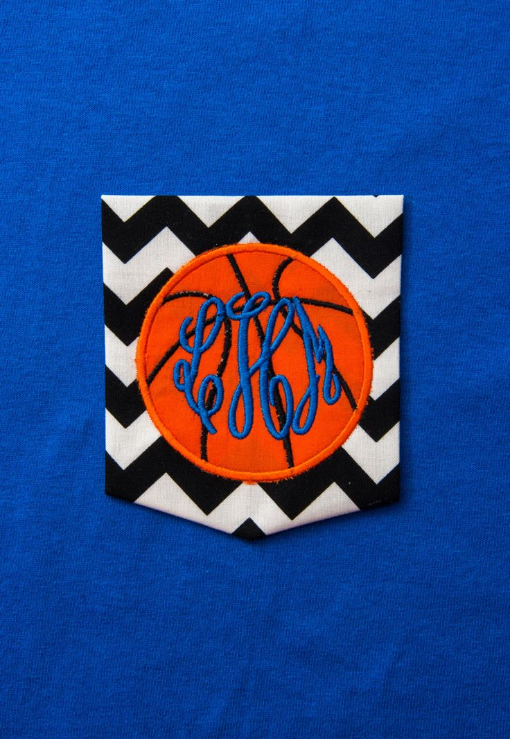 Chevron Pocket T-shirt with Appliqued Basketball and Monogram! by BurlapandLaceSC1 on Etsy https://www.etsy.com/listing/249968465/chevron-pocket-t-shirt-with-appliqued