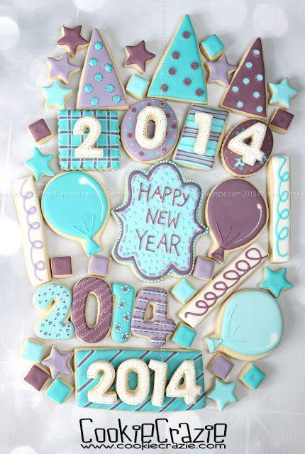 CookieCrazie: Happy New Year from CookieCrazie! [photo for inspiration only] #DecoratedCookies #Cookies