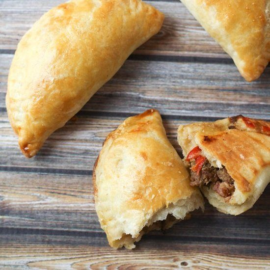 Argentinian Beef Empanadas - spiced beef, beans, cheese and flaky ...