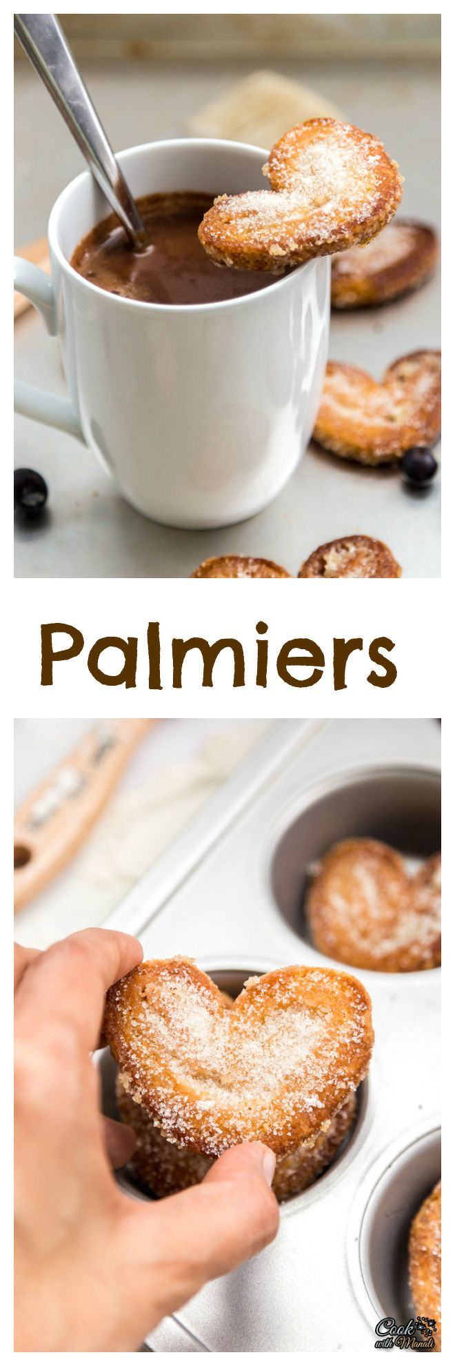 Flaky, buttery Palmiers are perfect little treats to enjoy with your ...