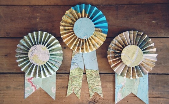 How great would these map ribbons be for a travel themed and/or going away party?
