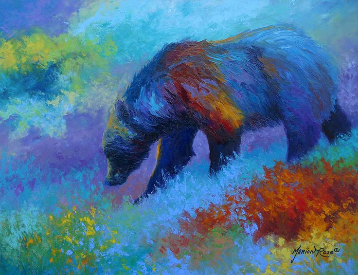 Denali Grizzly Bear Painting by Marion Rose - Denali Grizzly Bear Fine Art Prints and Posters for Sale