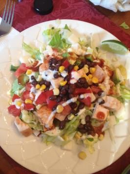 California Pizza Kitchens Bbq Chicken  Salad--needs obvious adjustments to be paleo (such as, no corn or black beans), but is yummy!
