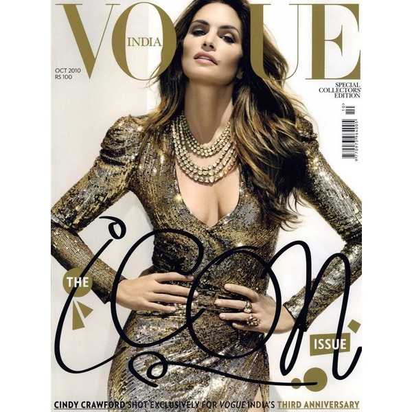Vogue India Cover October 2010 ❤ liked on Polyvore