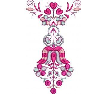 Výšivka Čataj, farebná, 14x8 cm