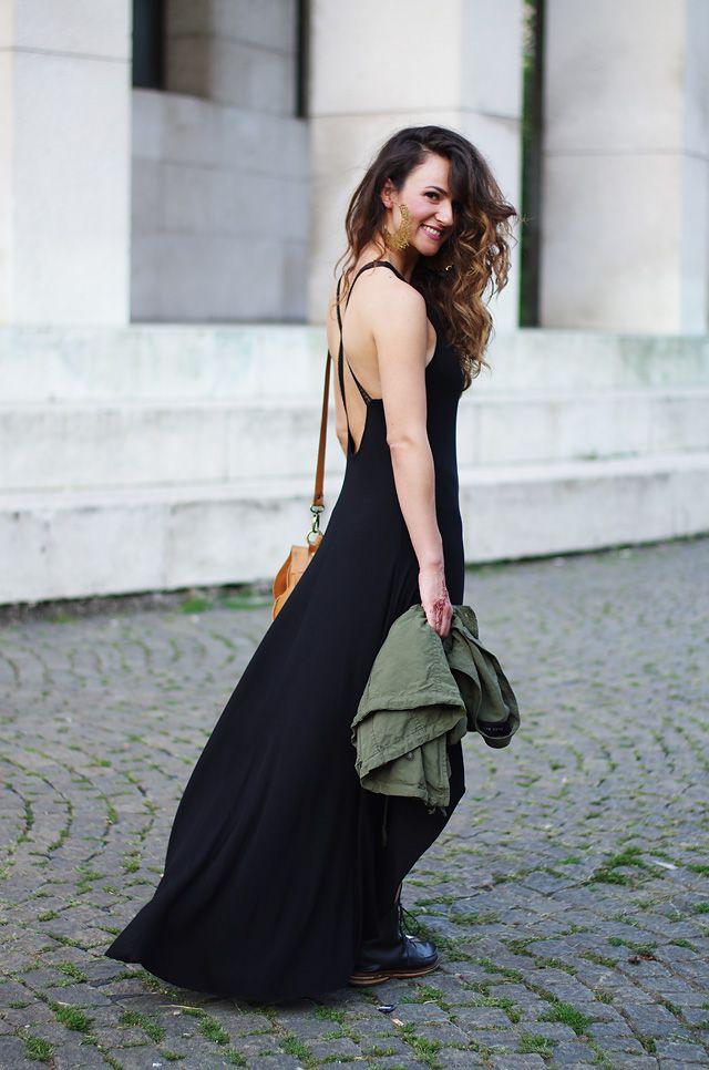 A'Marie jurk, Zara jas, tas Maja, laarzen Maison Martin Margiela //