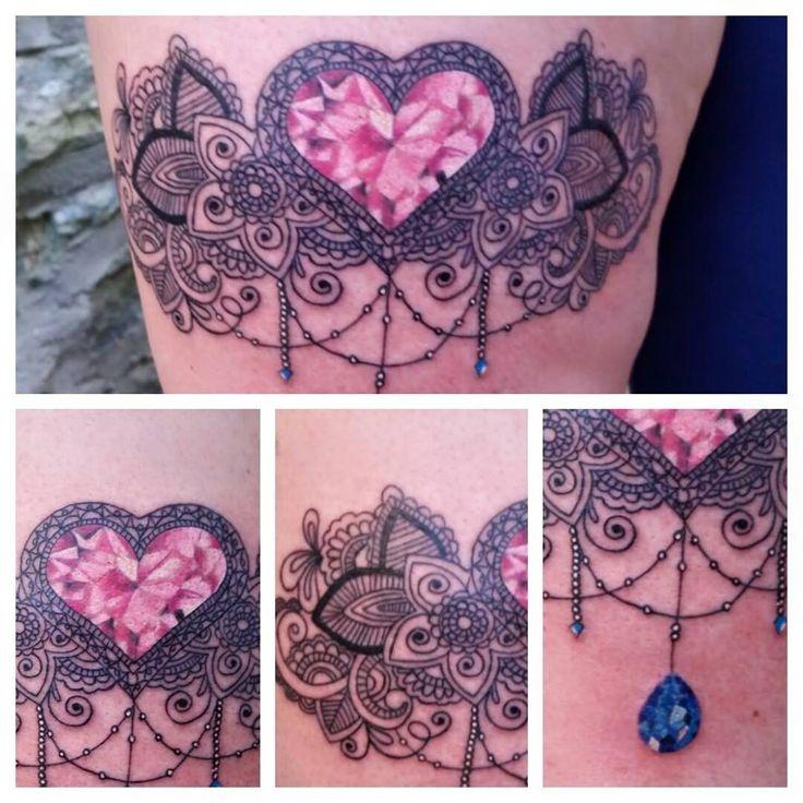 #gem #diamond #sapphire #beads #tattoo #garter #pattern #henna #mandala #lisawalker