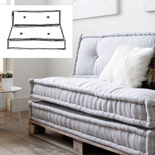 Leuke set matraskussen set 120x60 met een zitkussen en een rugkussen! Voor in de tuin of in je zithoek! Maak je eigen loungeplek.