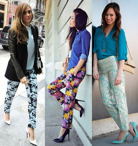 how to wear printed trousers