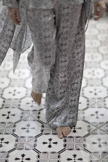 beautiful grey by the style files, Handmade tiles can be colour coordinated and customized re. shape, texture, pattern, etc. by ceramic design studios