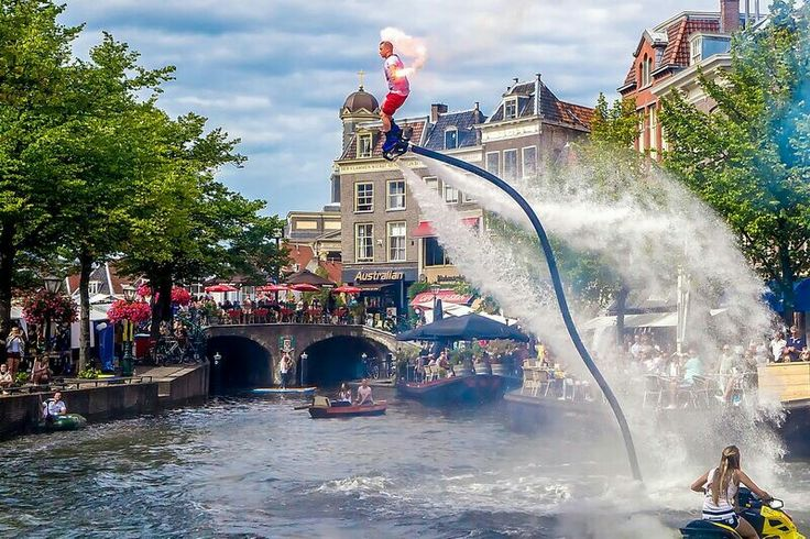 City center of Leiden in Holland Bo Krook: