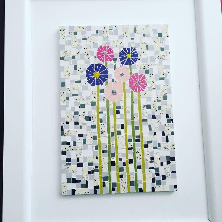 Mosaic flowers by Fernanda Elortegui