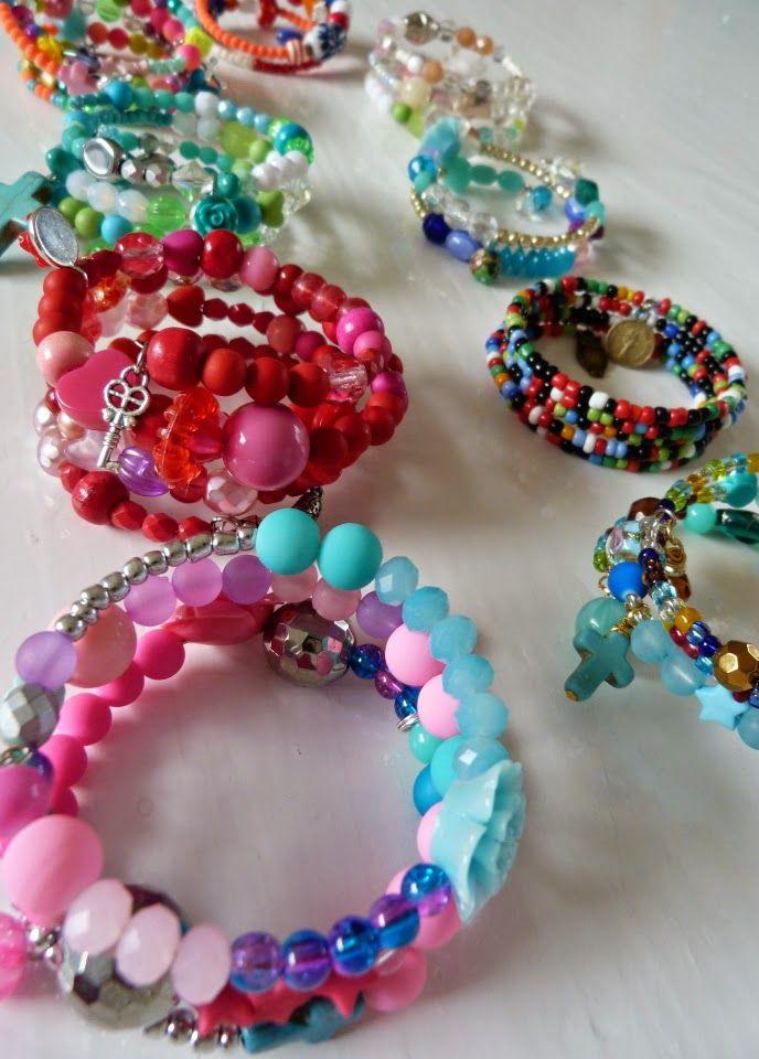 Ilona's blog: Spiraal Armbanden, wire wrapped bracelets