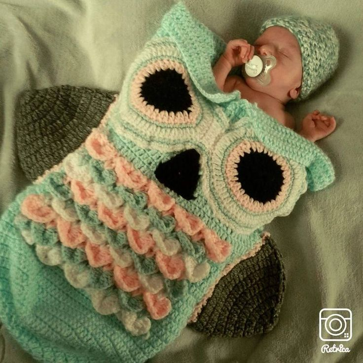 Crochet Infant Owl Coccon- Perfect for a photo Prop or First Pictures Baby Shower Gift -Crochet Owl Blanket by JessicasCrocheted on Etsy