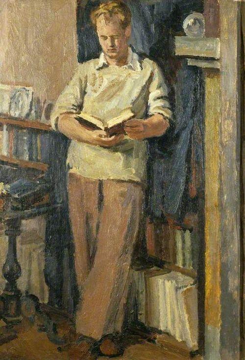 Quentin Bell Reading (c.1936-1938). Vanessa Bell