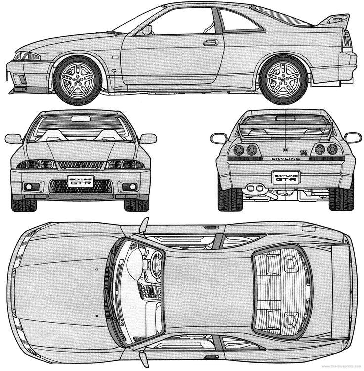 схематическая картинка автомобиля его теле были