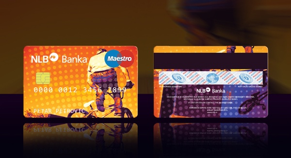 Credit card design by Ana Novakovic, via Behance