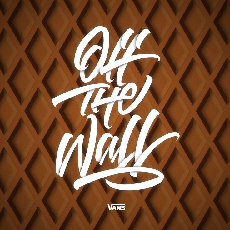 """Off The Wall"" queria hacer algo para Vans . #vans #offthewall #design #calligraphy #lettering #andresvega"
