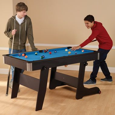 The Foldaway Pool Table - Hammacher Schlemmer