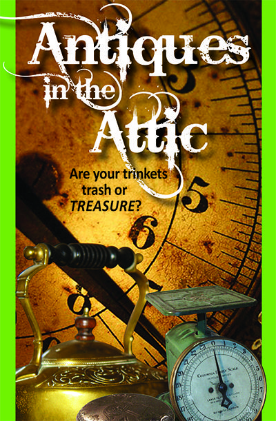 Ever wondered what those trinkets are worth? Come and find out at our second Antiques in the Attic session at the Cultural Centre on May 31, 2014!