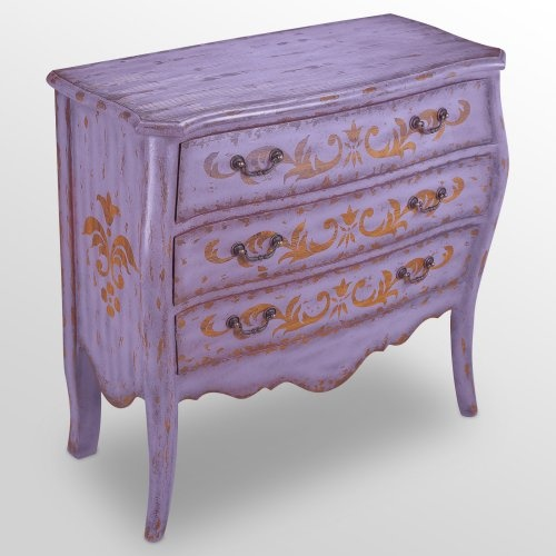 purple chest of drawers - definitely going for that color of late